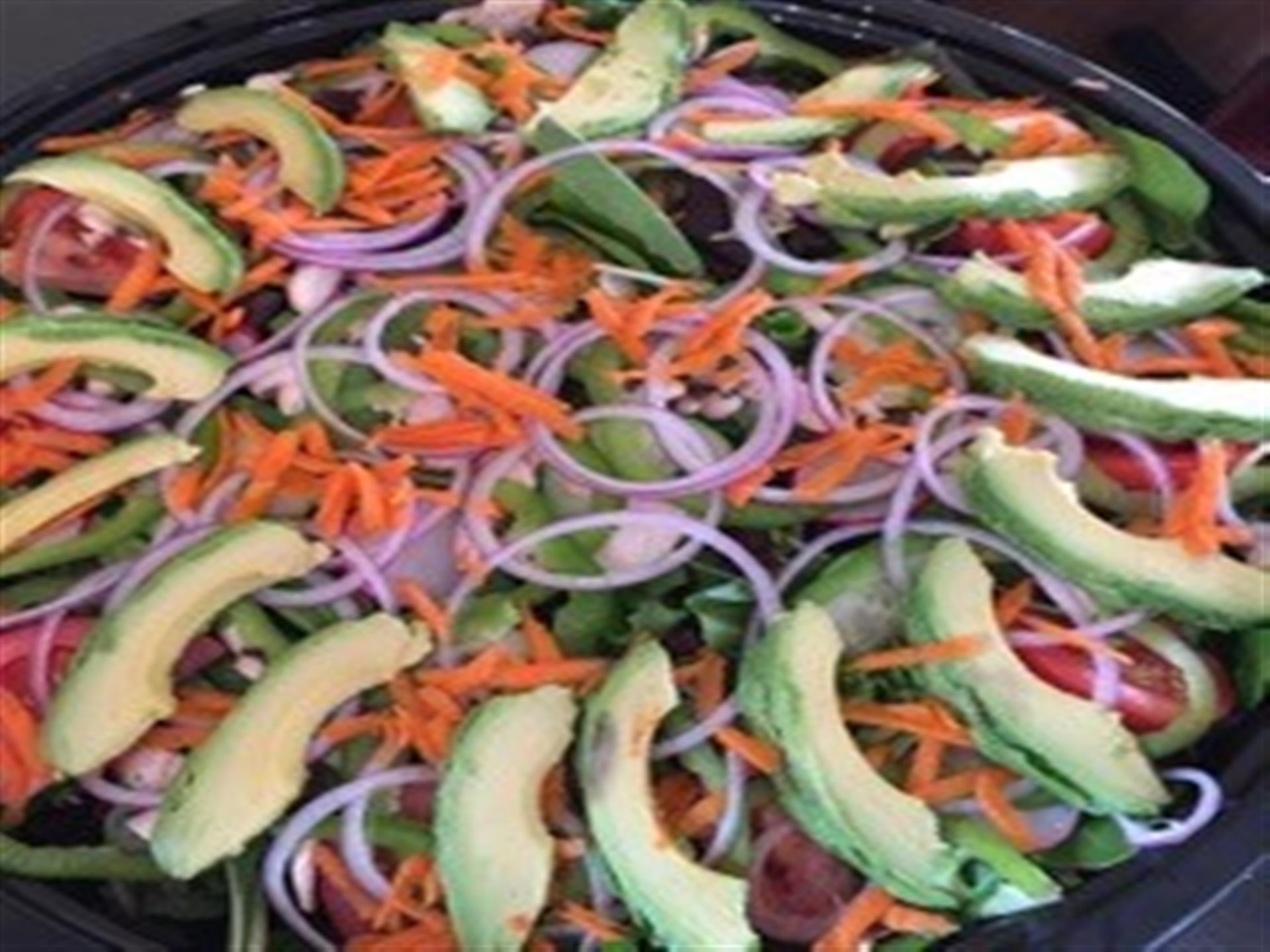 Closeup of salad in bowl.