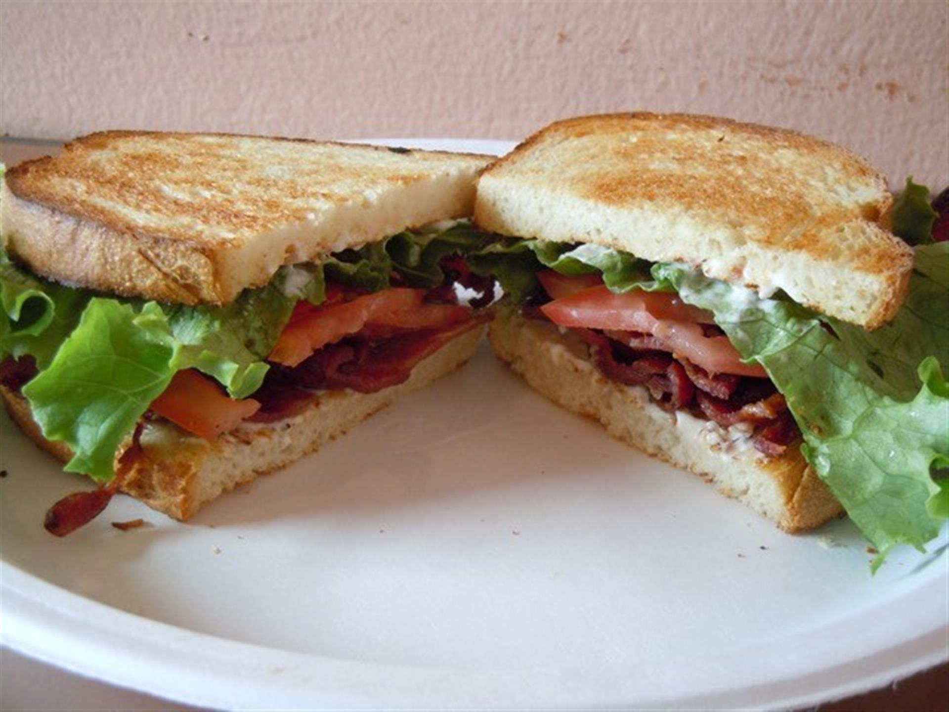 bacon lettuce tomato on bread