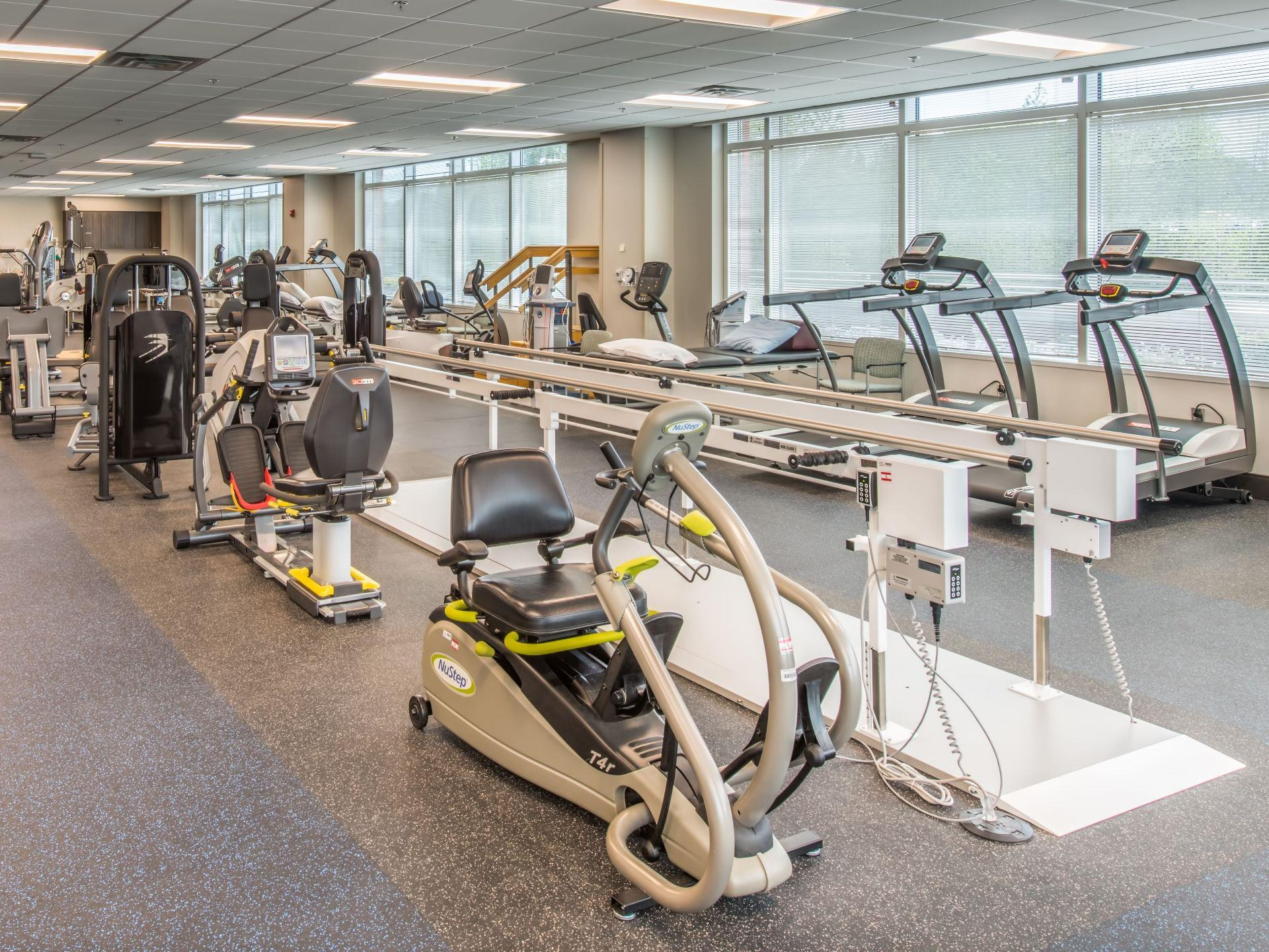 Physical Theraphy area with weights machines and other equipment