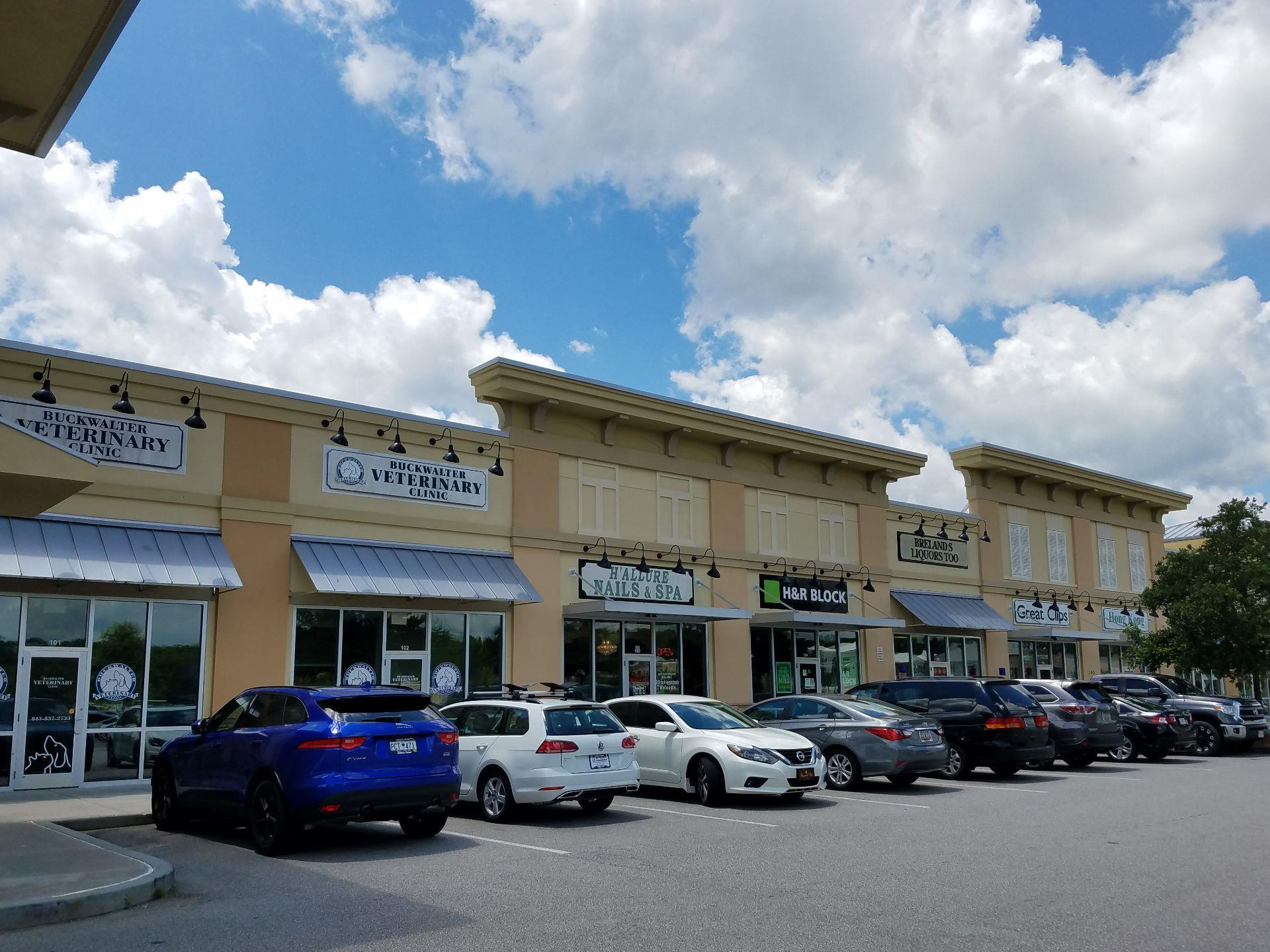 view of small shopping center strip mall