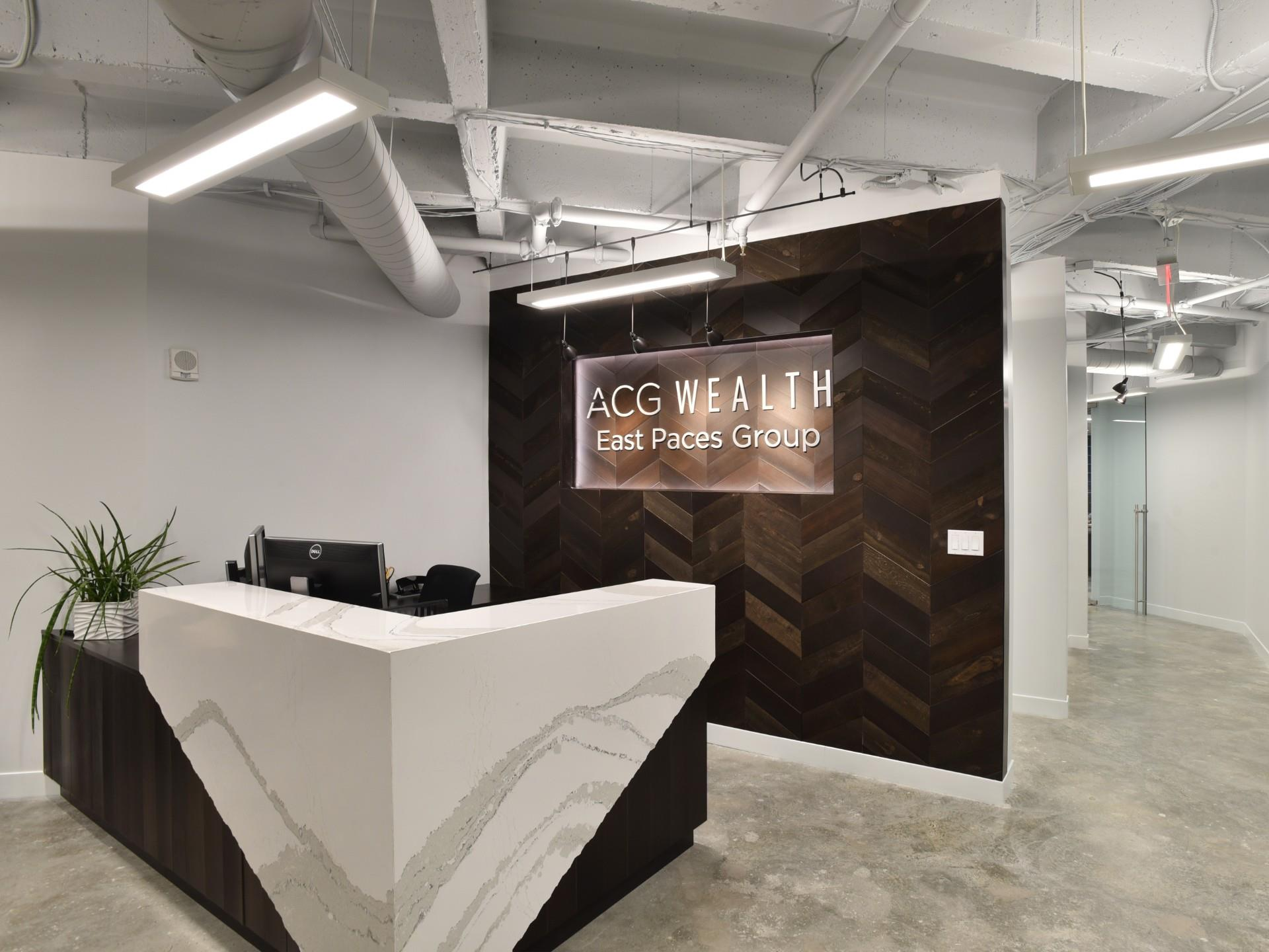 ACG Wealth East Paces Group Front Desk area