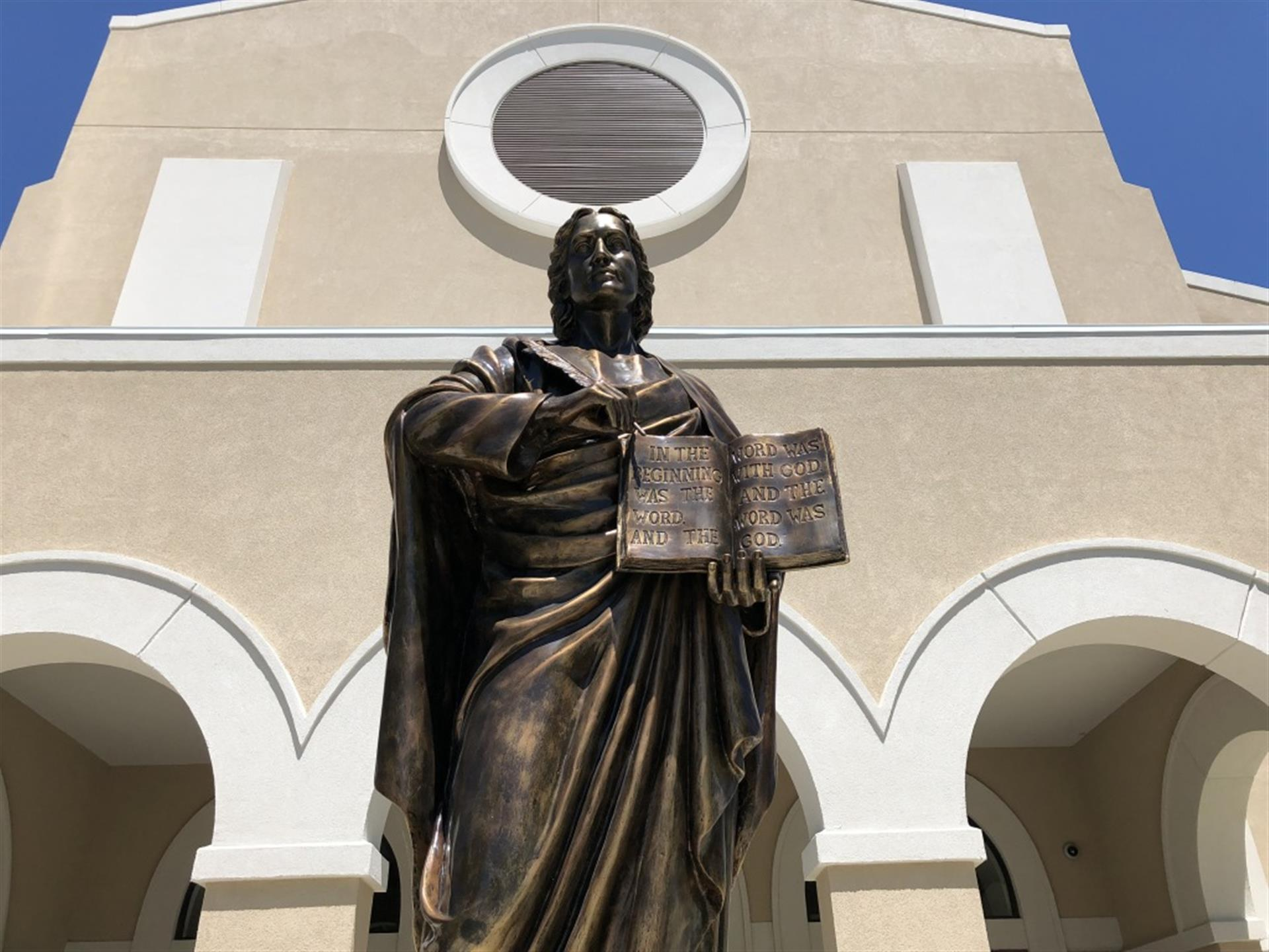 Statue outside the front of the church