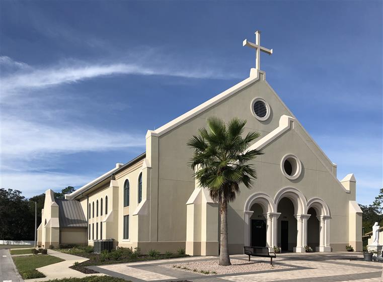 Exterior of catholic church