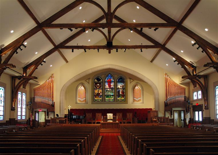 Interior of church facing alter