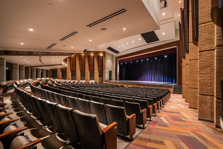 Performing Arts Center.  Seating with stage