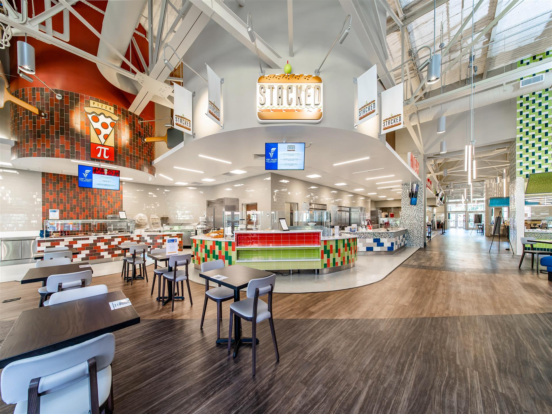 Student Dining - higher education - open space with various eateries and seating