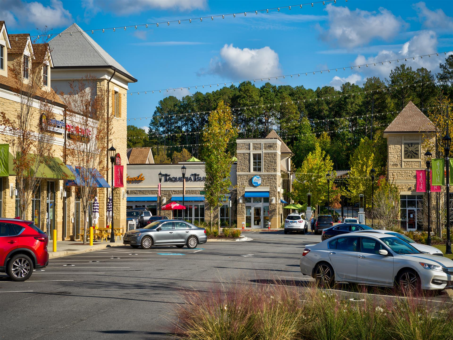 Retail - various retail centers and parking