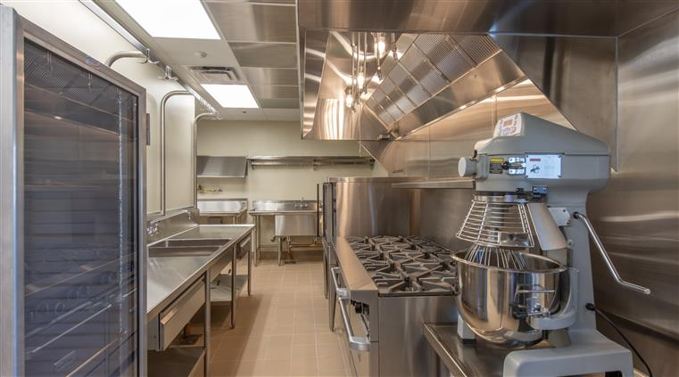commercial kitchen showing equipment