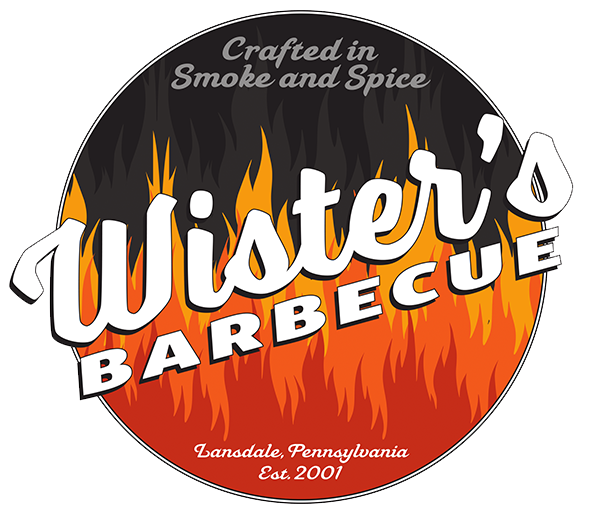 crafted in smoke and spice. wister's barbecue. lansdalem pennsylvania. es. 2001