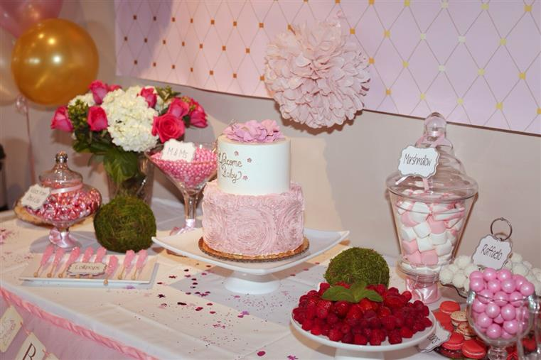 table decorated with a birthday cake
