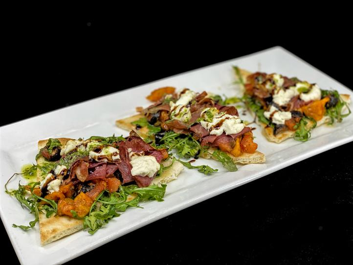 Roasted Antipasto Flat Bread
