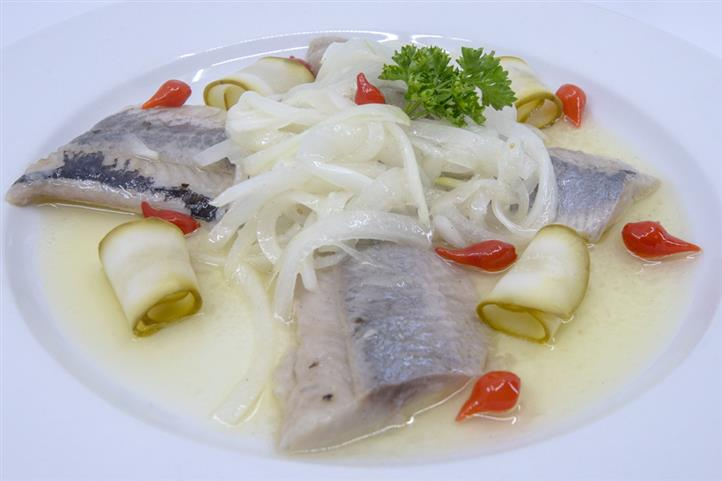 Traditional Polish Herring in Oil