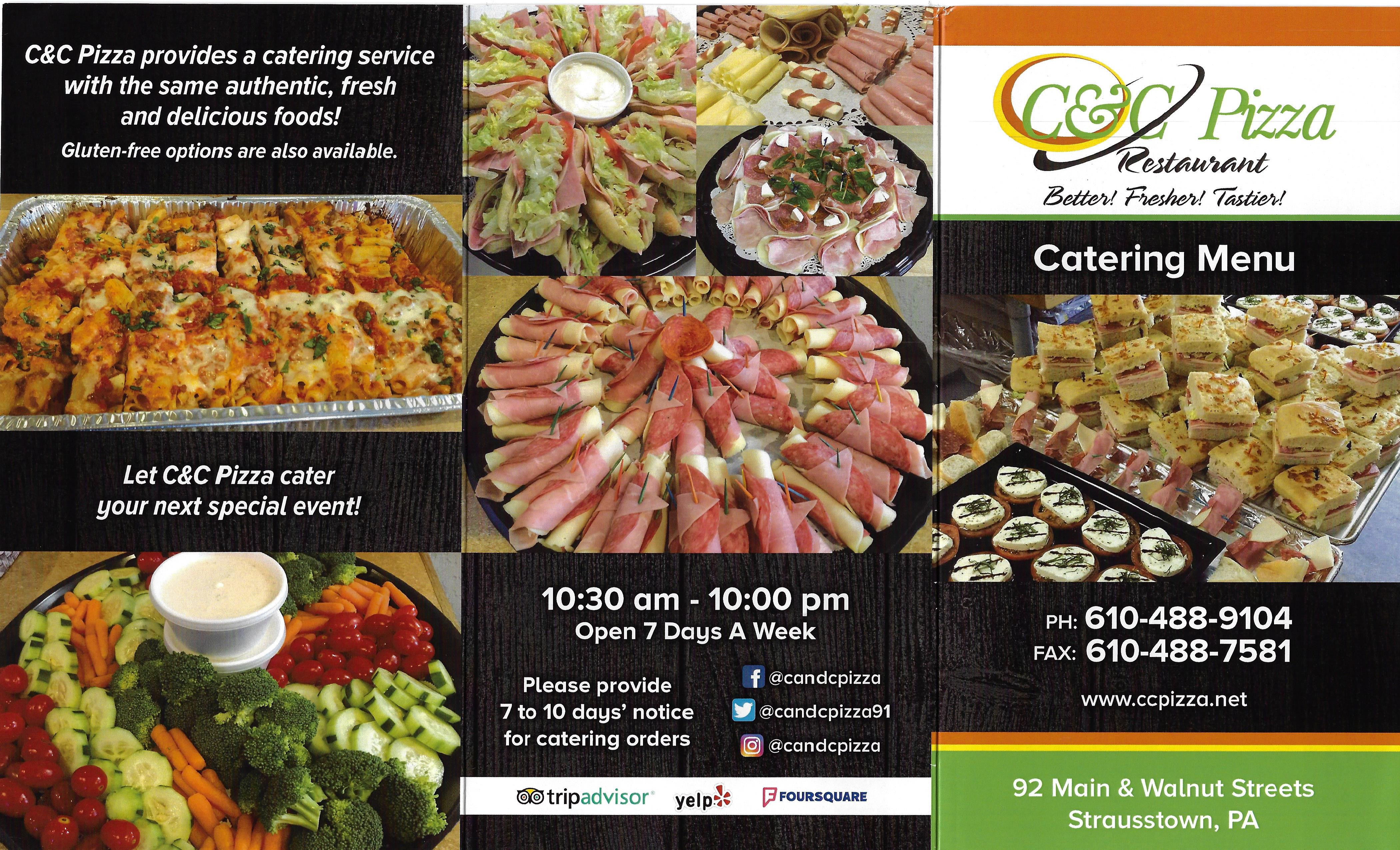 Catering Menu 2020 page #1