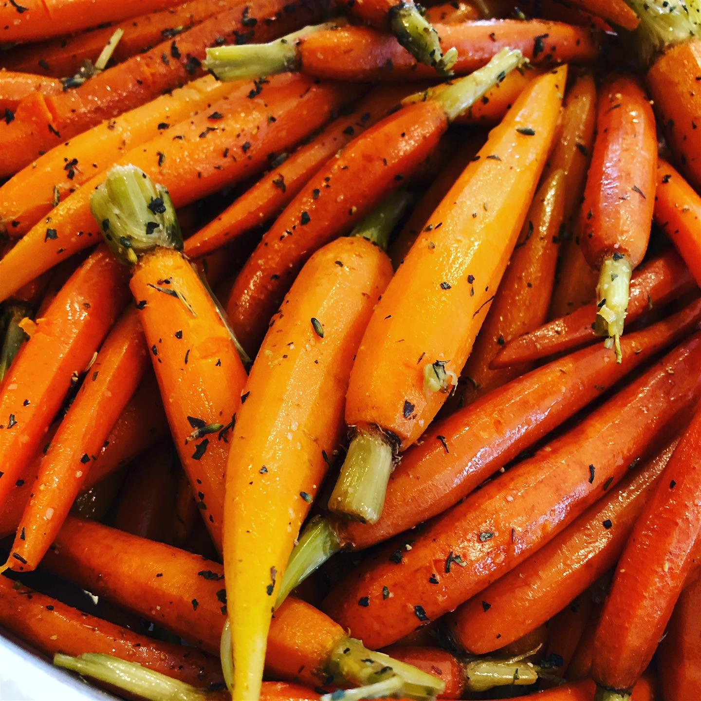glazed whole carrots