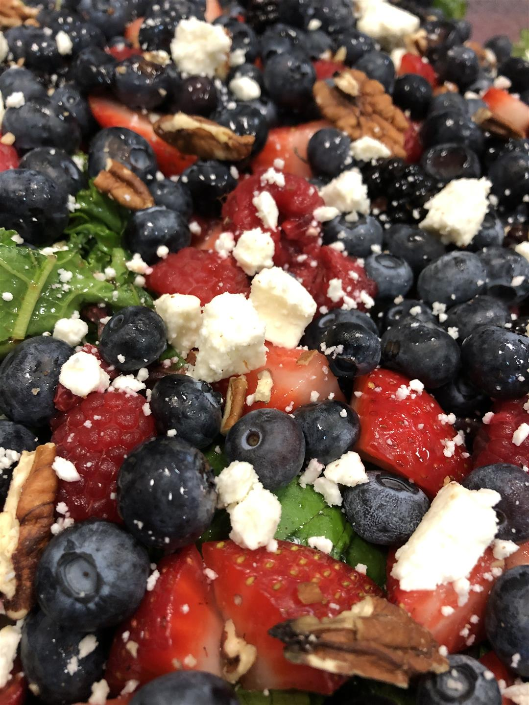 mountain berry salad with goat cheese