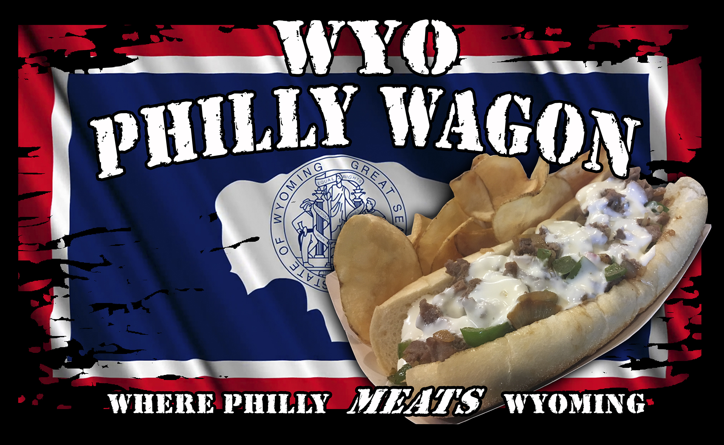 wyo philly wagon logo. Where Philly meats wyoming