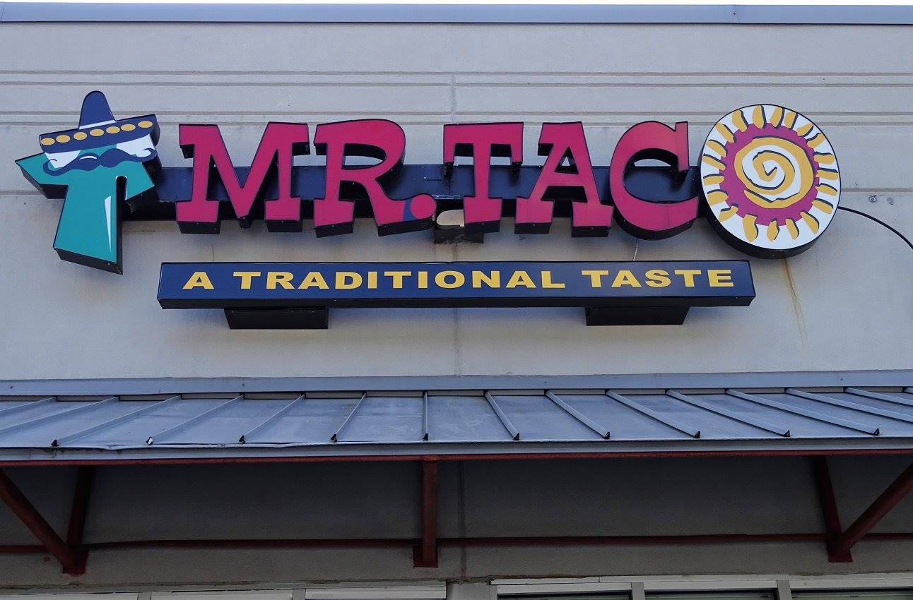 Mr. Taco Logo and Exterior Sign