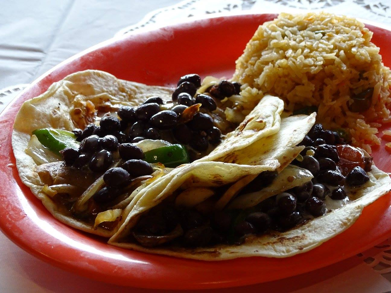 Soft Shell Tacos with Black Beans