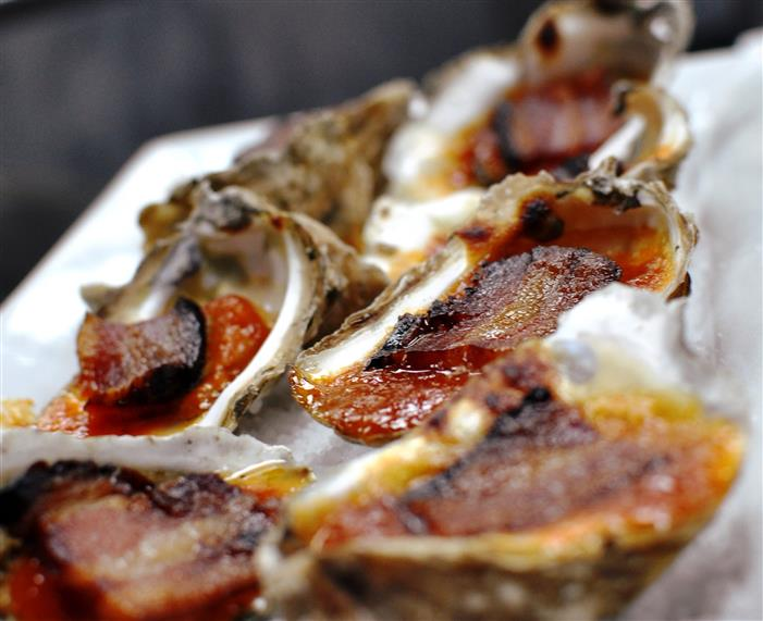 oysters stuffed with bacon