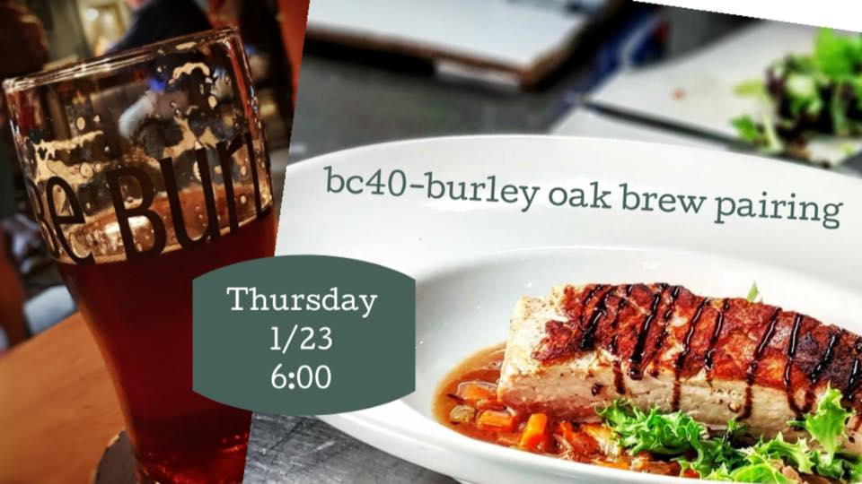 Burley Oak-BC40 Beer Dinner 1/23