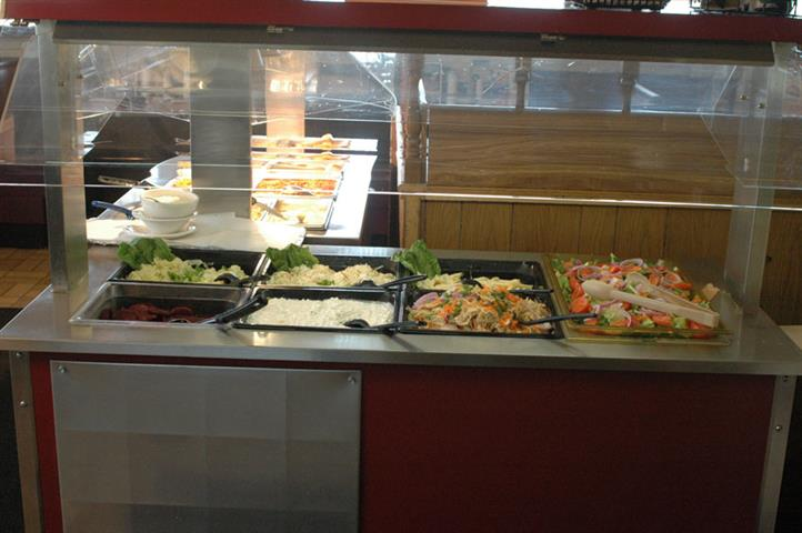 buffet assortment of salads ingredients