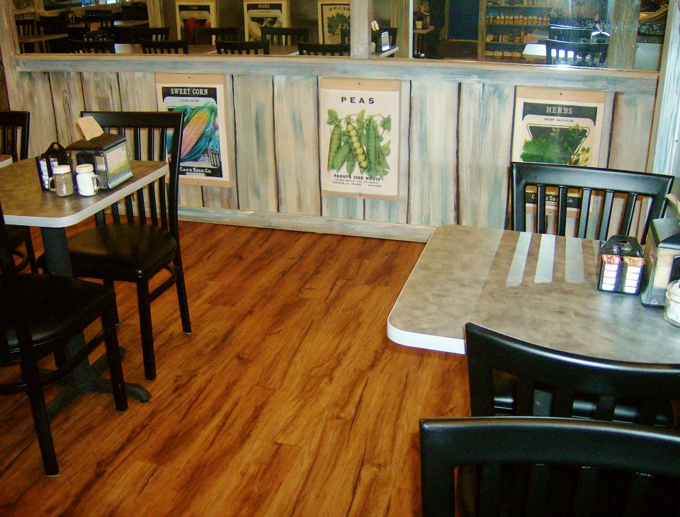 tables inside restaurant