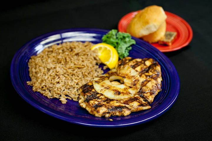 grilled chicken with pinnapple and rice