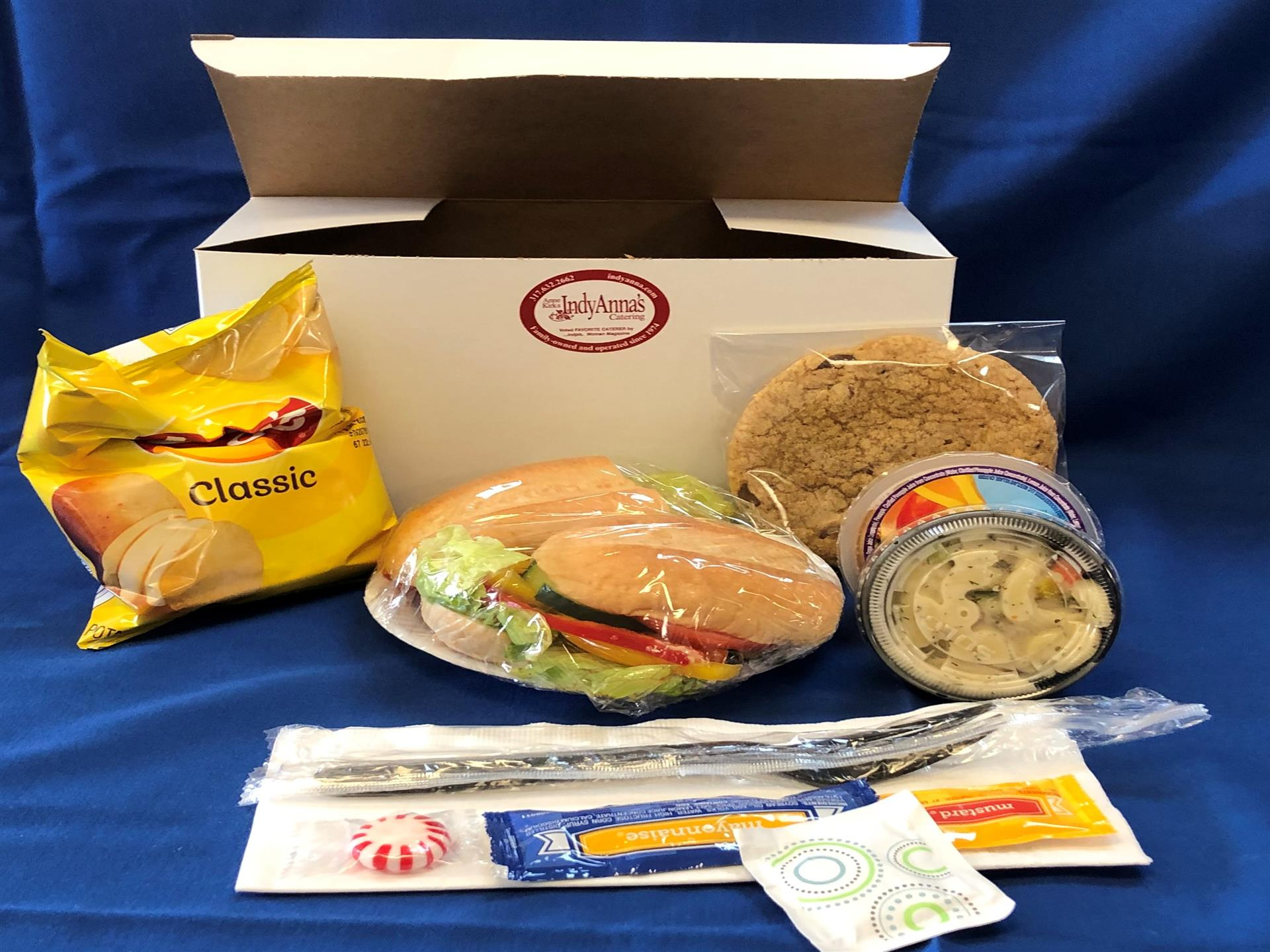 Box Lunch- Sandwich, Potato Chips, cookies