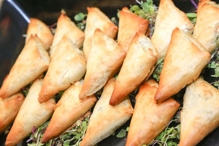 triangular puff pastry appetizers