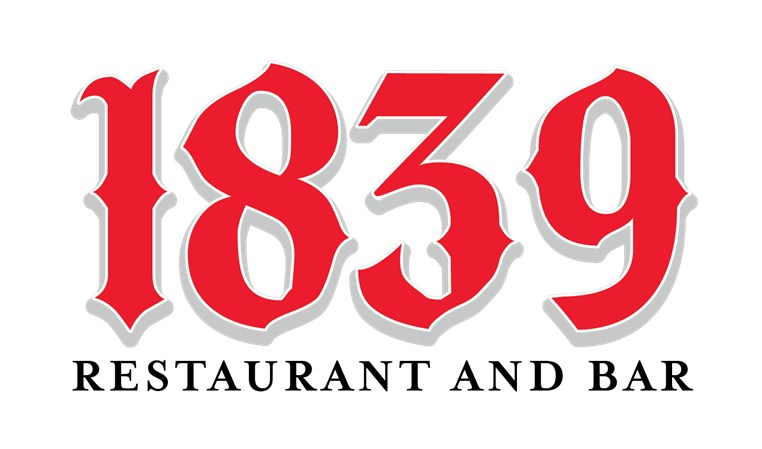 1839 restaurant and bar logo