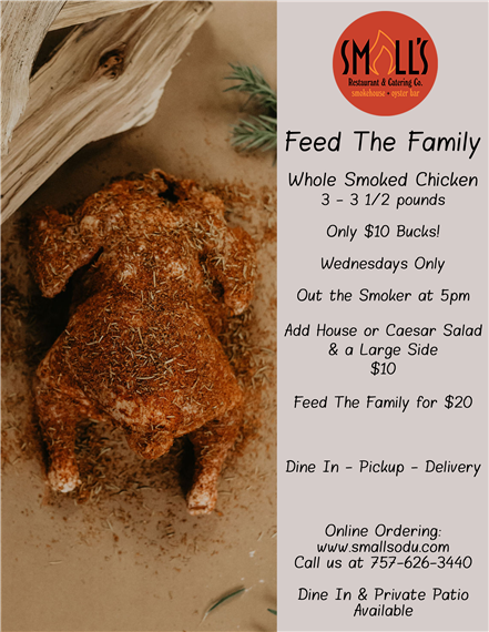 Feed the Family - Whole Smoked Chicken
