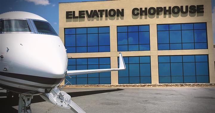 private plane outside elevation