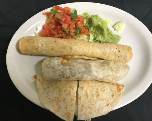 Burritos and quesadilla