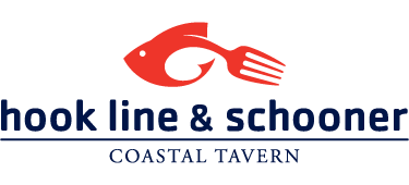 Hook, line and schooner coastal tavern.