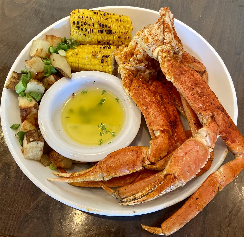 Grilled Snow Crab Legs w/sides (1/2 LB /1 LB)