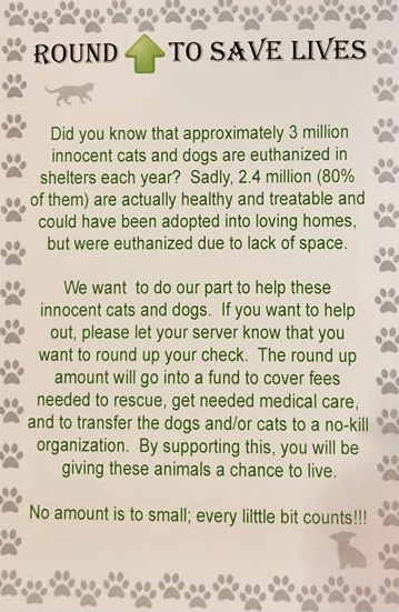 Round up to save cats and dogs