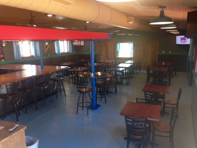 interior dining area of dougs steak & bbq