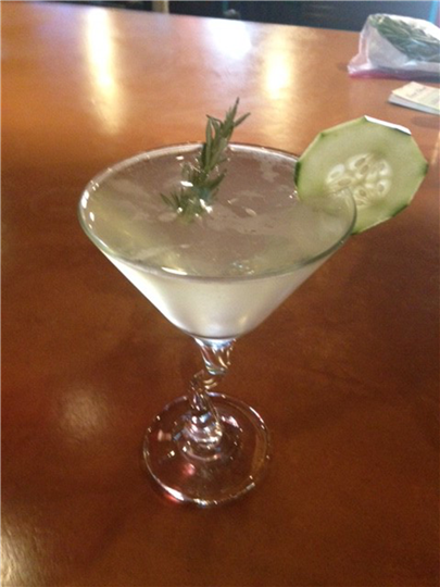 martini with dill and cucumber