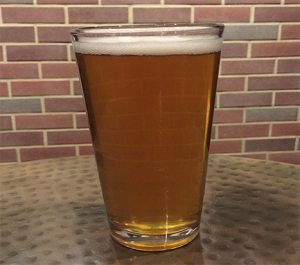 light beer filled pint glass