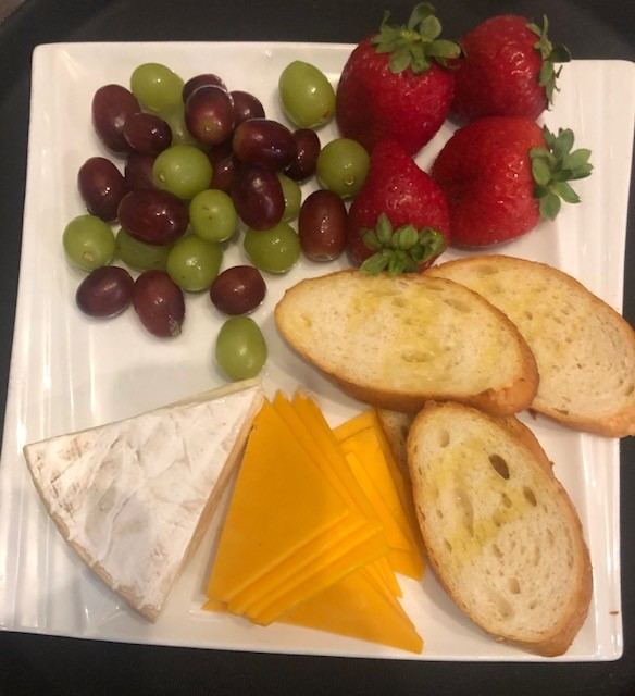 Cheese and grape platter