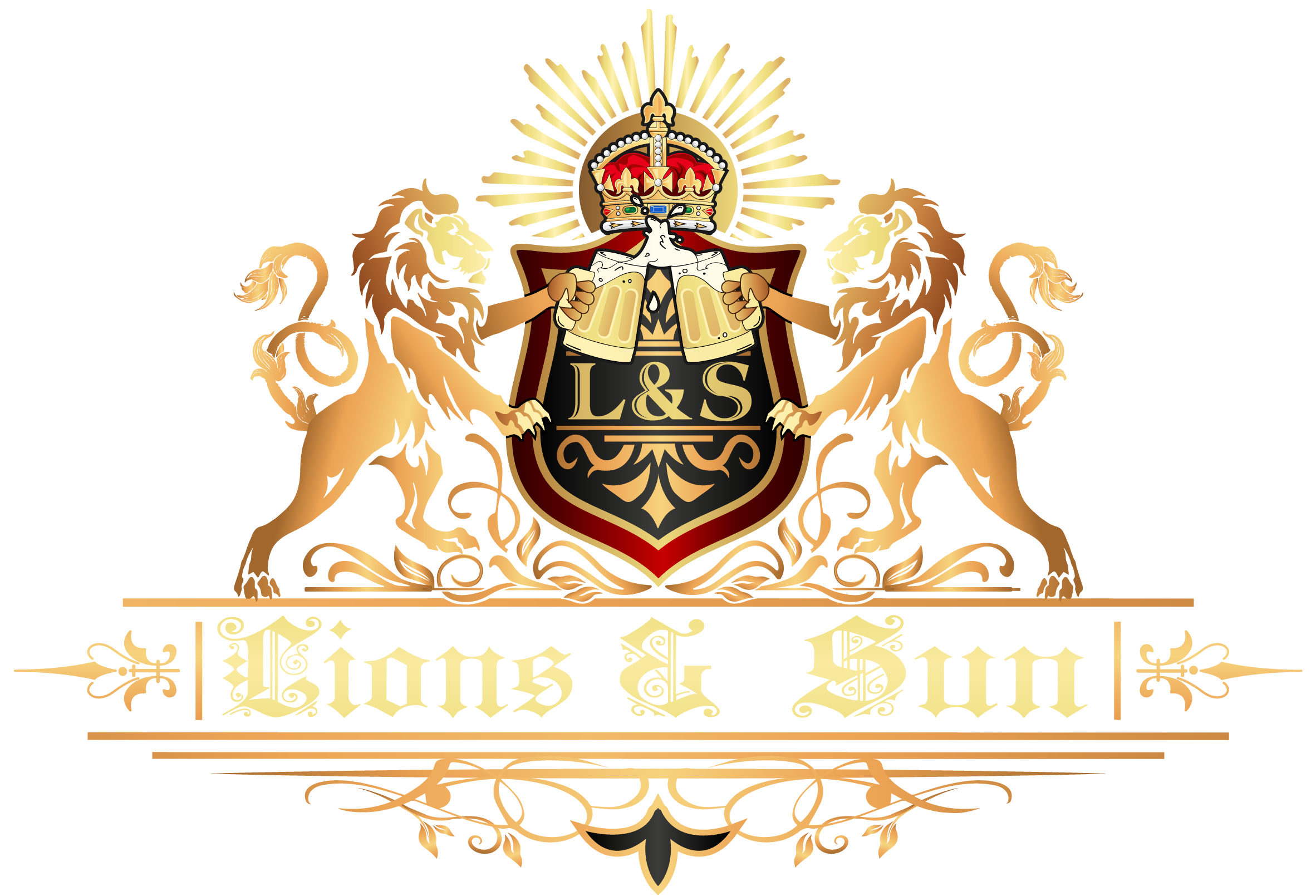 lions and sun logo