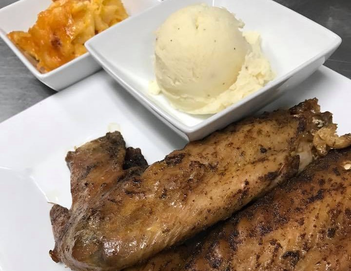 Turkey Wings with a side of mashed potatoes