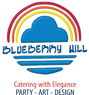 Blueberry hill. catering with elegance. Party, art, design.