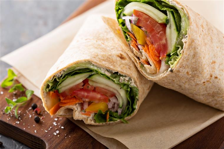 Mixed vegetable wraps