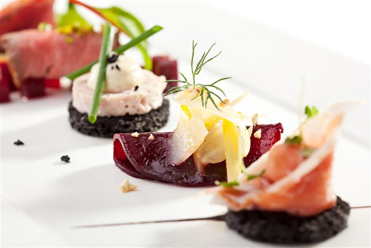 Beet Canapes with Goat Cheese