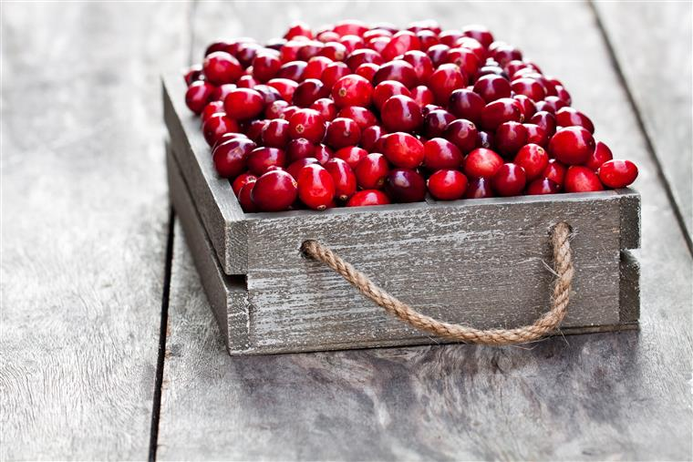 box of cranberries