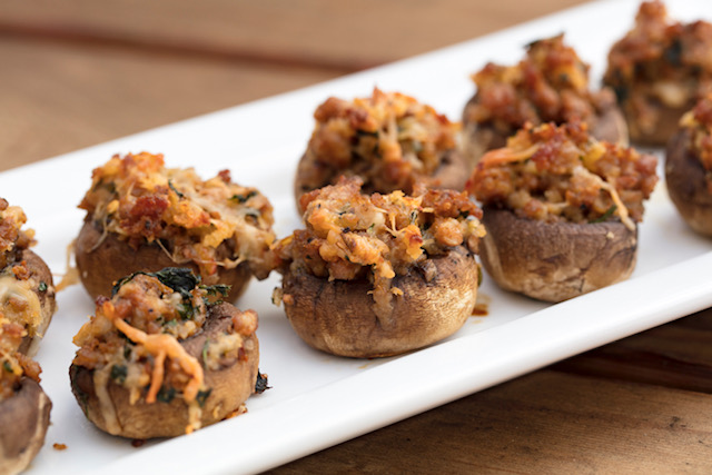 Braised Short Rib Stuffed Mushrooms