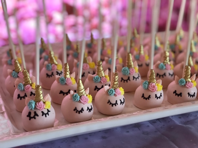 Unicorn dessert pops