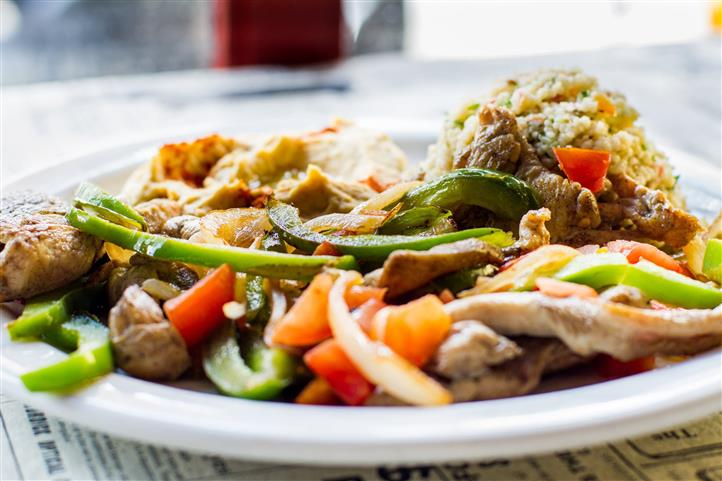 mixed vegetables and meat on a plate