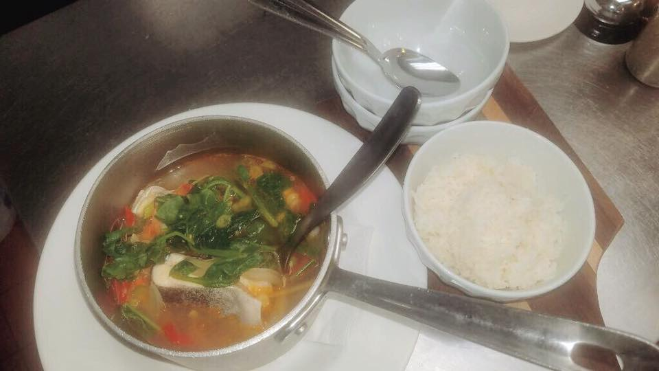 salmon soup with rice
